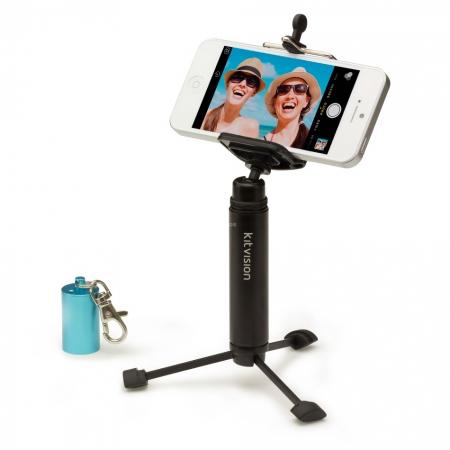 KitVision KVPKTTRMPHBL - trepied de buzunar pentru smartphone, Albastru