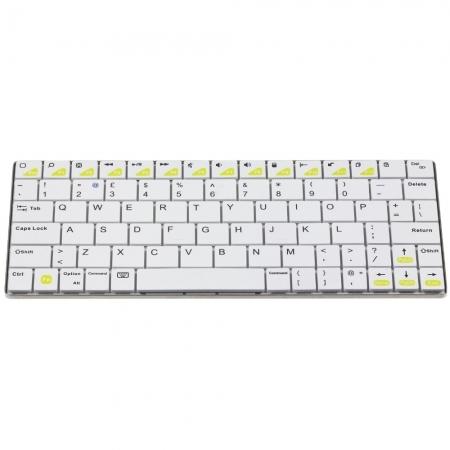 KitVision Mini tastatura bluetooth universala, aluminiu, Alb