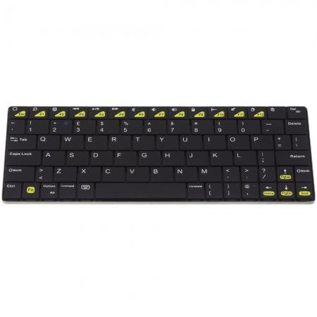 KitVision Mini tastatura bluetooth universala, aluminiu, Negru