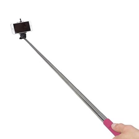KitVision WDSSPHPI - Selfie Stick extensibil cu control declansare, roz