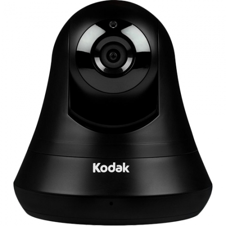 Kodak - Camera de supraveghere HD, Wi-Fi, cu Stocare in Cloud pentru 24h + Optiune Zoom Si Rotire - Negru