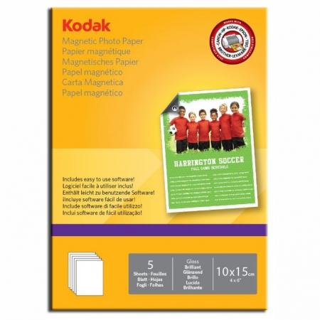 Kodak Glossy hartie foto magnetica 10x15 5coli 690gr