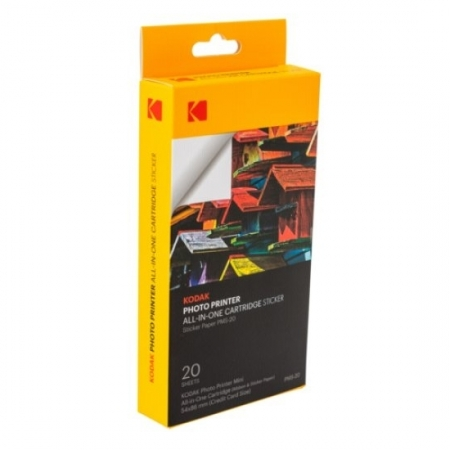 Kodak PMS-20 - Sticker Paper pentru Photo Printer Mini, 54 x 86mm, 20 buc.