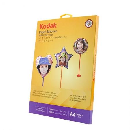 Kodak - Set 10 baloane printabile pentru imprimante inkjet, 18 cm, cu kit asamblare