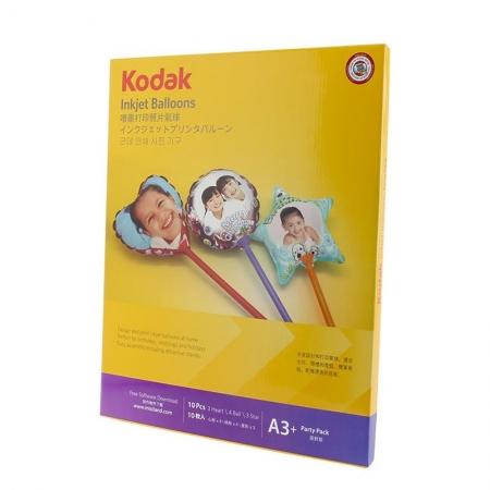 Kodak - Set 10 baloane printabile pentru imprimante inkjet, 28 cm, cu kit asamblare