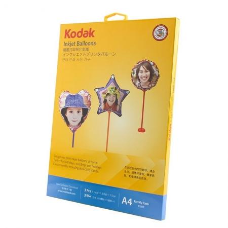 Kodak - Set 3 baloane printabile pentru imprimante inkjet, 18 cm, cu kit asamblare