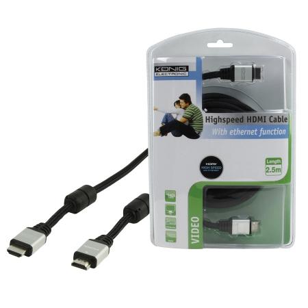 Konig CMP-CE038-2.5 - cablu HDMI mare-mare, 2.5m
