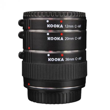 Kooka KK-N68 set tuburi extensie (inele macro - 12mm, 20mm, 36mm) pentru Nikon