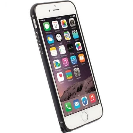 Krusell - Husa bumper aluminium pentru Apple Iphone 6 Plus - negru