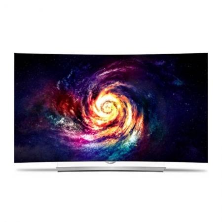 LG 65EG960V - Televizor OLED 3D curbat 165 cm, Ultra HD 4K, argintiu