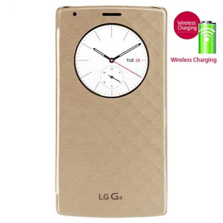 LG Circle View - Husa agenda pentru G4 - auriu