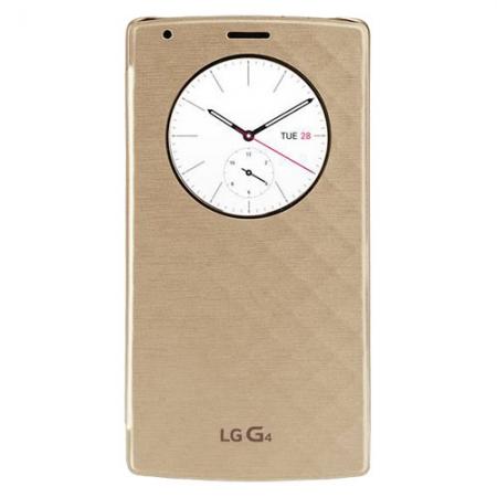 LG Snap Circle View - Husa agenda pentru G4 - auriu