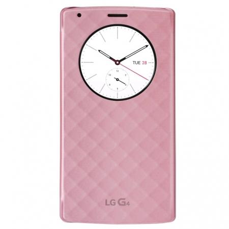 LG Snap Circle View - Husa agenda pentru G4 - roz