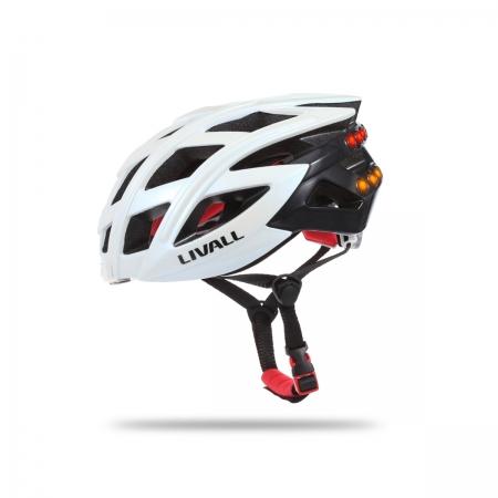 LIVALL Casca Bike Bluetooth Cu Microfon, Alerta SOS Si Leduri De Semnalizare Alb