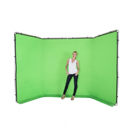 Lastolite 7622 - fundal panoramic verde chroma key, 2.35x4m