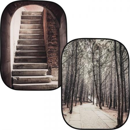 Lastolite Perspective - fundal 1.5x2.1m Stone Steps/Winter Trees
