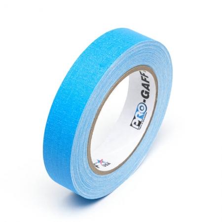 LeMark Fluo - Banda adeziva fluorescenta, 24mm - albastru