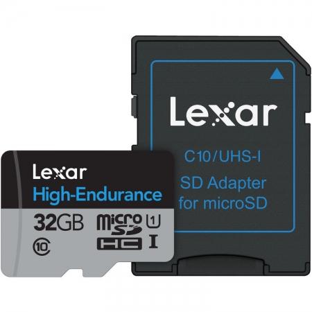 Lexar High Endurance - card microSDHC UHS-I 32GB +Adaptor