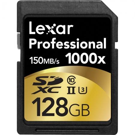 Lexar Professional SDXC 128GB 1000X  UHS2, 150MB/s BULK125017970-3