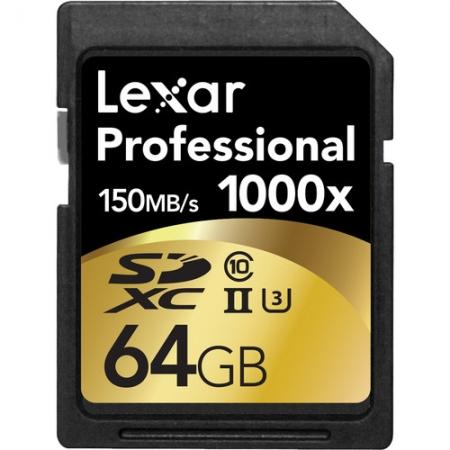 Lexar Professional SDXC 64GB 1000X  UHS2, 150MB/s - BULK125017969