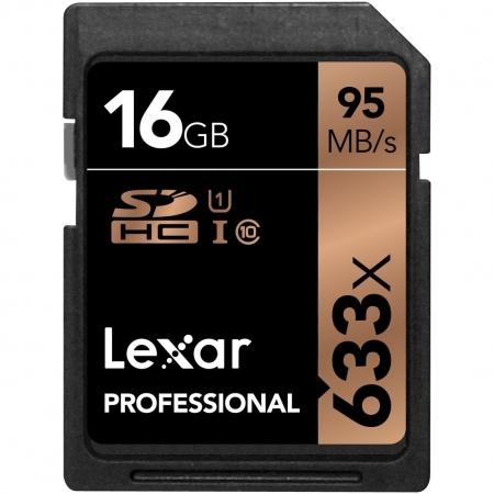 Lexar SDHC Card 16GB 633x Professional Class 10 UHS-I U1 - BULK125029657