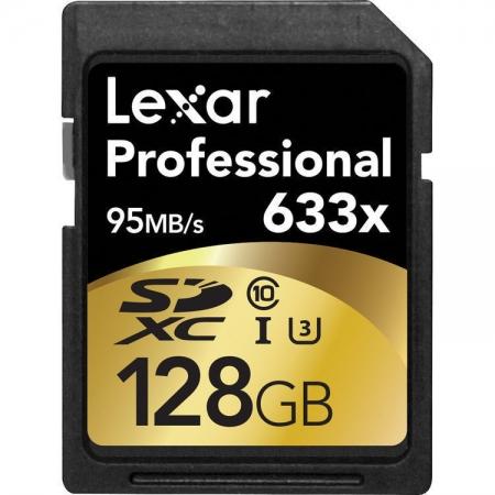 Lexar SDXC Card 128GB 633x Professional Class 10 UHS-I BULK125018799-2