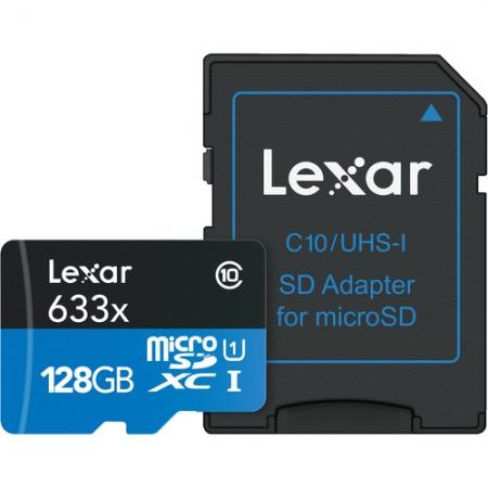 Lexar microSDXC 128GB, Class 10, UHS-I, 95MB/s + Adaptor SD