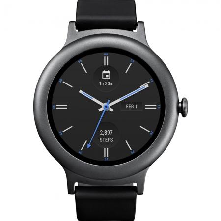 Lg Style - Smartwatch  Otel Inoxidabil Argintiu, Curea Piele - Negru