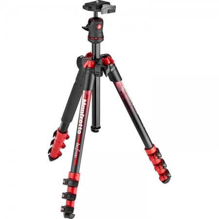 Manfrotto BeFree Travel - Trepied, rosu
