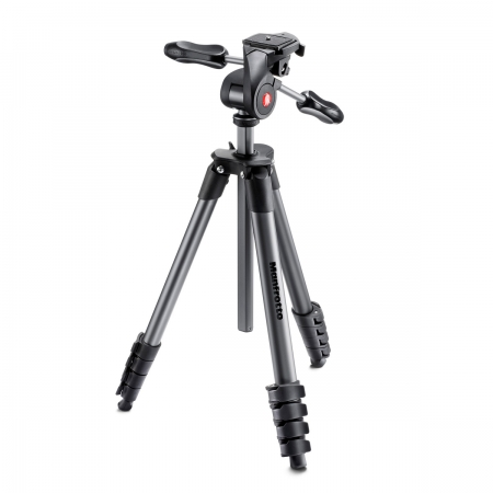 Manfrotto Compact Advanced - trepied foto-video negru