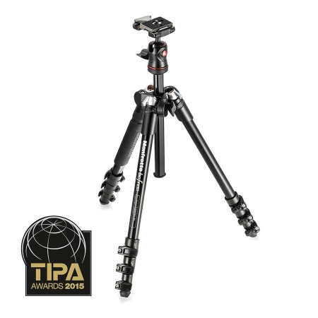 Manfrotto MKBFRA4-BH Befree - kit trepied foto negru - RS125004969-1