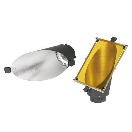 Metz BG-18 - reflector de fundal cu 3 filtre de culoare montura Bowens