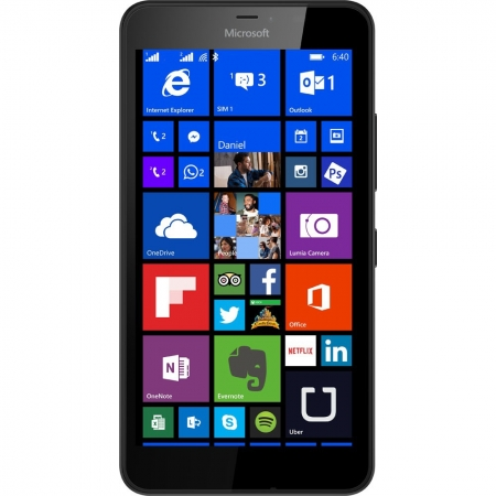 Microsoft Lumia 640 XL Single SIM (Windows 8.1. Phone) - 4G Black RS125018853