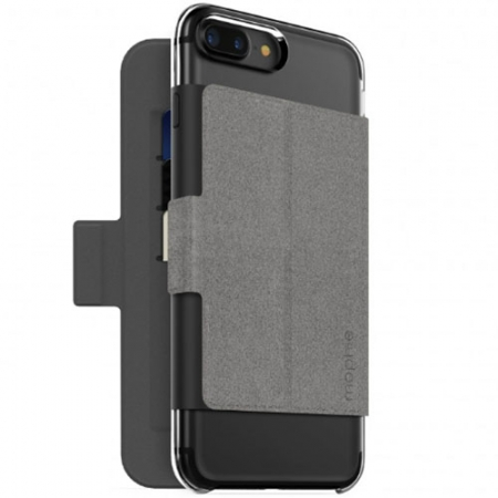 Mophie Card Slot Hold Force Folio - Husa magnetica, Gri