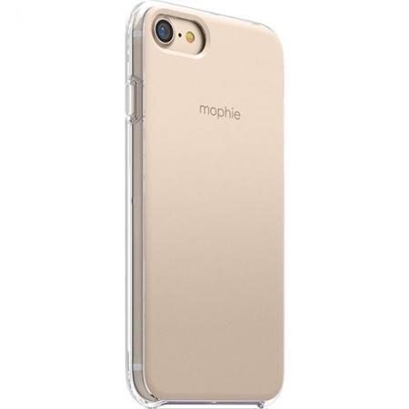 Mophie - Husa Capac Spate pentru Apple iPhone 7, Transparenta/ Auriu