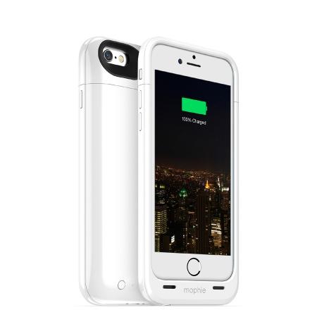 Mophie Juice Pack Plus - Baterie externa 3300 mAh + Husa pentru iPhone 6 / 6s - alb