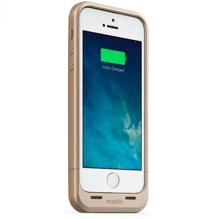 Mophie iPhone 5s / 5 juice pack air - Husa cu acumulator 1700mAh - auriu