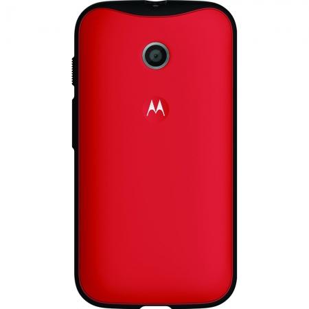 Motorola - Husa Grip Shells pentru Moto E - culoare rosu + negru