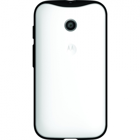 Motorola - Husa Grip Shells pentru Moto E - culoare alb + negru