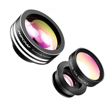 Mpow MFE1N - Set lentile foto clip-on, 3in1
