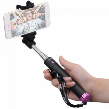 Mpow iSnap X - Selfie stick, Bluetooth, Roz