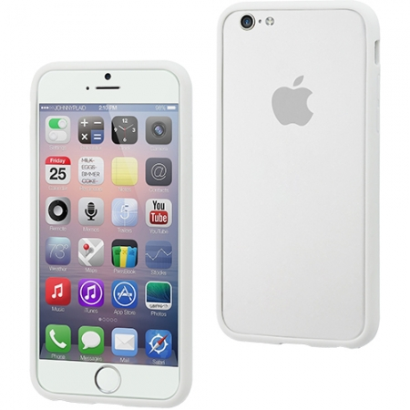 Muvit bumper Ibelt Apple iPhone 6 - alb