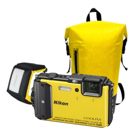 Nikon Coolpix AW130 Diving Kit galben