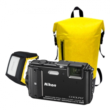 Nikon Coolpix AW130 Diving Kit negru