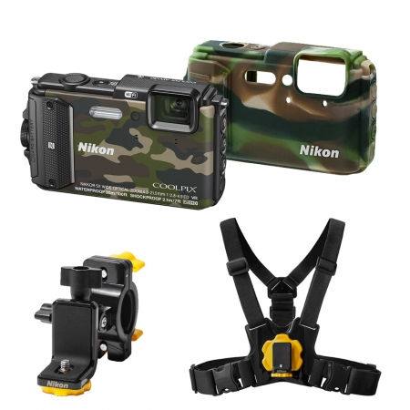 Nikon Coolpix AW130 Outdoor Kit camouflage