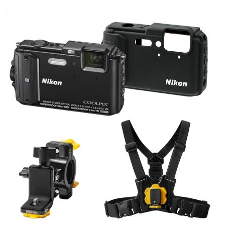 Nikon Coolpix AW130 Outdoor Kit negru