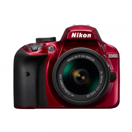 Nikon D3400 Kit AF-P 18-55mm VR - rosu