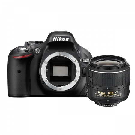 Nikon D5200 kit 18-55mm VR II AF-s DX Negru
