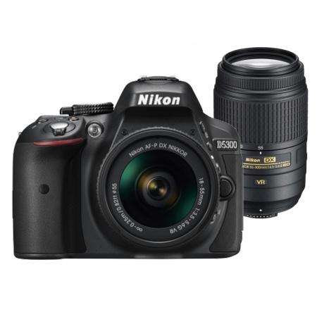 Nikon D5300 Dual Zoom Kit (AF-P 18-55 VR + 55-300 VR)