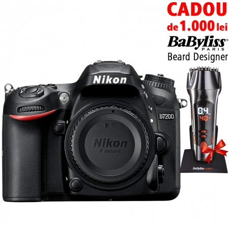 Nikon D7200 + Cadou Babyliss Beard Designer editie limitata